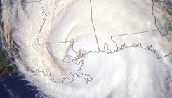 Katrina with Outline of Louisiana Visible