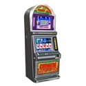 Gambler's Edge<br /><br />Features include dual 19-inch LCDs, bill acceptor that accepts 1's, 5's, 10's, & 20's. Bill units have been upgraded to accept all new currency. The software set includes popular titles such as <em>Miner's Treasure & Spillover Poker</em>. Maximum payout $1,000.00.<br /><br />Dimensions: 41-inches H x 20.5-inches W x 26-inches D