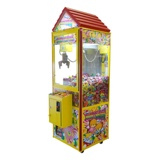 Sweet Shop Candy Crane<br /><br />The Sweet Shop Candy Crane was designed to attract children of all ages. The gingerbread house design incorporates a pitched rooftop, lighted joy stick and buttons, flashing LED rope lights on each side, and is painted bright yellow and red. When being played it even sounds a catchy childhood toon. Candy cranes are the only redemption crane that allows a child to win something every time that can be enjoyed on the spot. Every restaurant should have one. All candy is supplied by Chalmette Amusement and is rotated to accommodate the changing seasons and current popularity of certain items.<br /><br />Dimensions: H 74-inches, W 24-inches, D 29-inches, W 200 LBS.