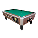 Valley Panther ZD-X Pool Table<br /><br />Includes MEI $1-$20 bill acceptor, sleek, redesigned rail cap molding, flush mount corner castings and pocket liners, 5-bolt cushion rail. amd Teflon Ultra Cloth, Cheyenne Leather color.<br /><br />Dimensions: 7 Foot: 92.75-inches L x 52.75-inches W x 31.5-inches H, weight 710 lbs.